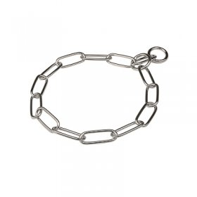 """Fur Paparazzi"" Chrome Plated Long Link Chain Collar - 4.0 mm"
