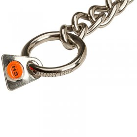 """No Issues"" Stainless Steel Short Link Chain Collar with Round Chain - 3.0 mm"