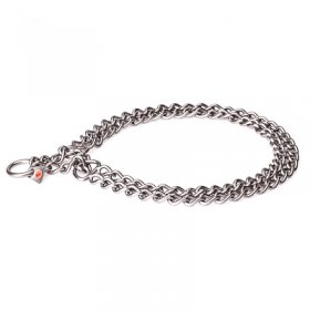 Stainless Steel Twin Row Chain Collar - 3.0 mm