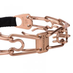 """Aggression Buster"" Curogan Pinch Collar with Center-Plate and Click Lock Buckle (4 mm x 23 3/5 inches)"