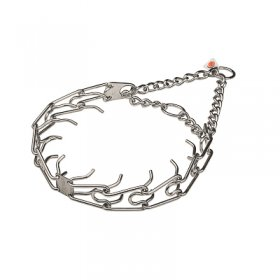 """Strict Trainer"" Stainless Steel Pinch Collar with Center-Plate and Assembly Chain (3.2 mm x 23 inches)"