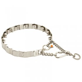 """Touch of Tame"" Stainless Steel Neck Tech SPORT Dog Collar - 23 3/5 inches (60 cm) long"