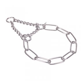"""Martingale Partner"" Stainless Steel Long Link Chain Collar with Limited Traction Effect - (4.0 mm)"