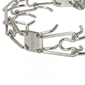 """Issues Killer"" Chrome Plated Prong Collar with Swivel and Quick Release Snap Hook (2.25 mm x 16 inches)"