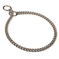 Choke Chain Dog Collar - Snake Steel Chrome Plated Collar
