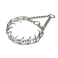 """Doggy Pal"" Chrome Plated Pinch Collar with Center-Plate and Assembly Chain (4 mm x 25 inches)"
