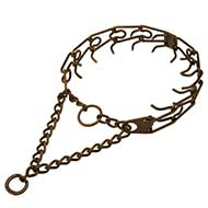 Steel Antique Copper plated Pinch Collar