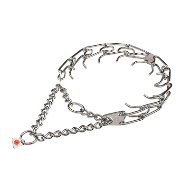 """Anti-Aggression"" Stainless Steel Pinch Collar with Center-Plate and Assembly Chain (4 mm x 25 inches)"