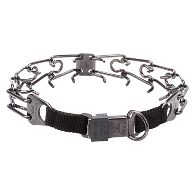 Black Stainless Steel Prong Collar (2.25 mm x 16 inches)