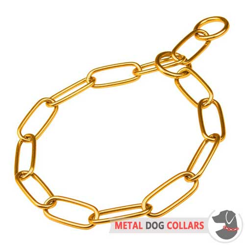 Rust-proof-brass dog collar