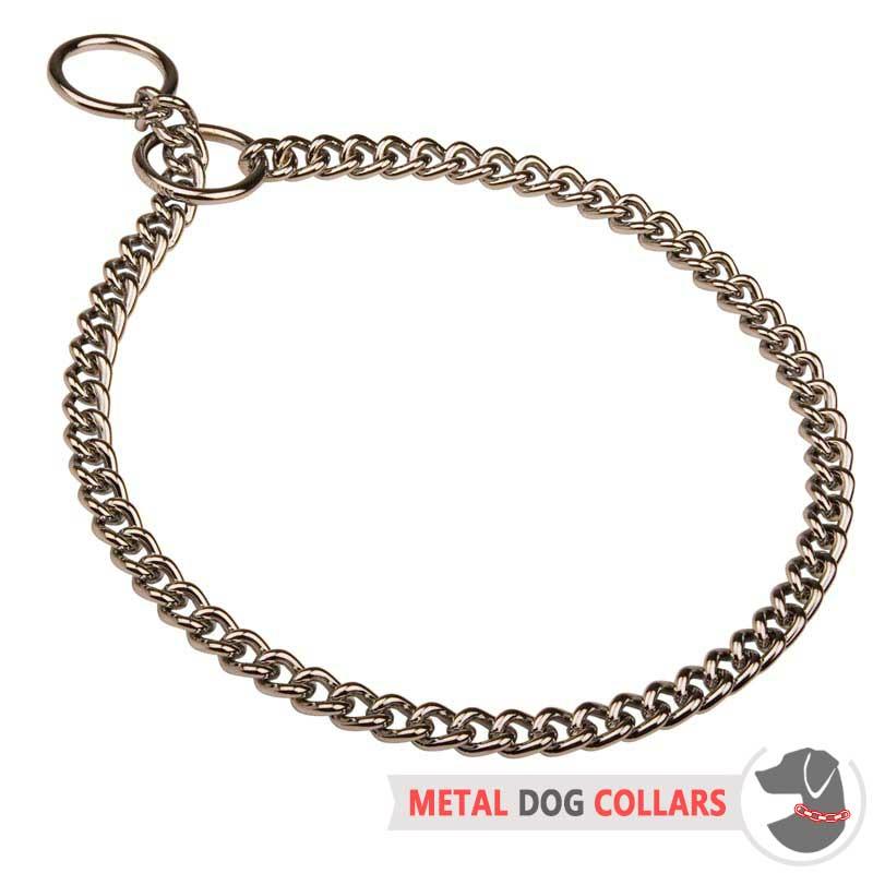 Reliable Choke Dog Collar With Chrome Plating