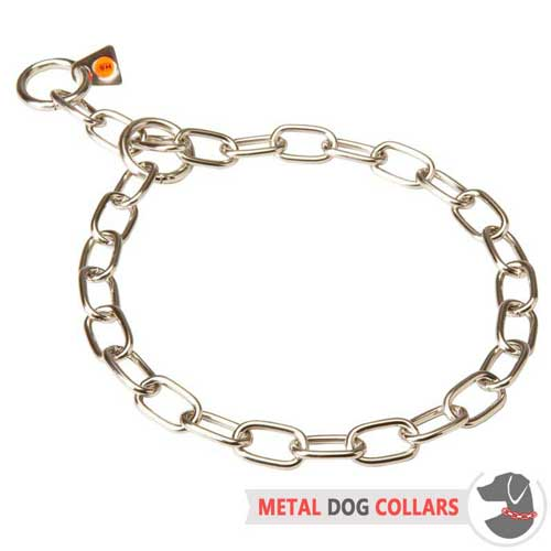 Comfortable stainless steel collar for walking with your dog