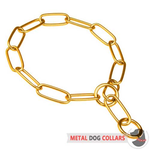 Comfortable metal collar for walking with your dog
