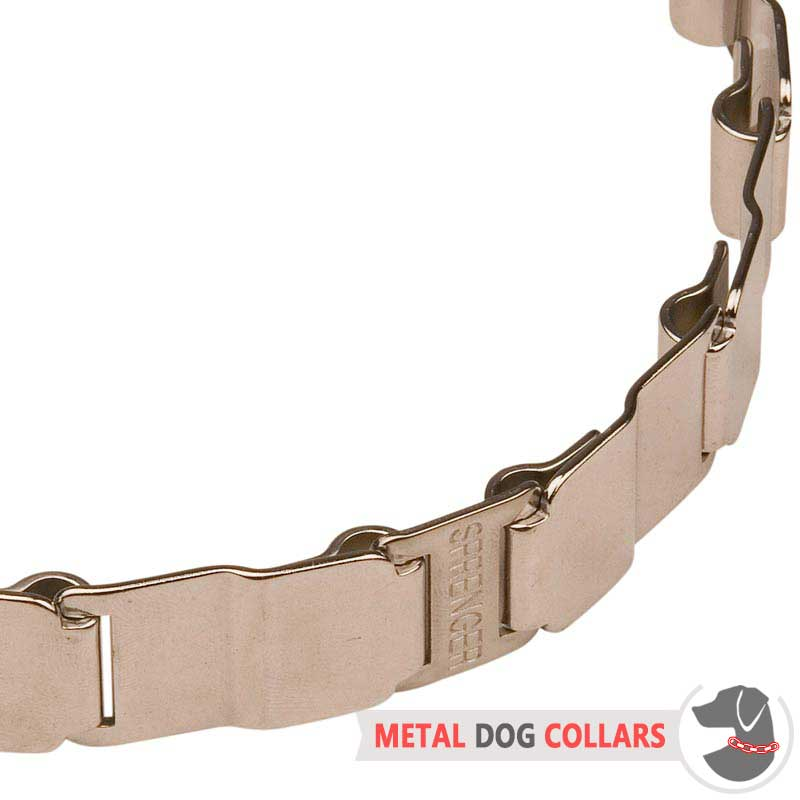 19 inch Neck Tech Fun Stainless Steel Dog Collar [HS38 ...