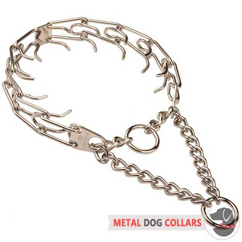 Chrome Plated Pinch Dog Collar for Obedient Training