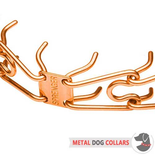 Curogan pinch dog collar with removable links