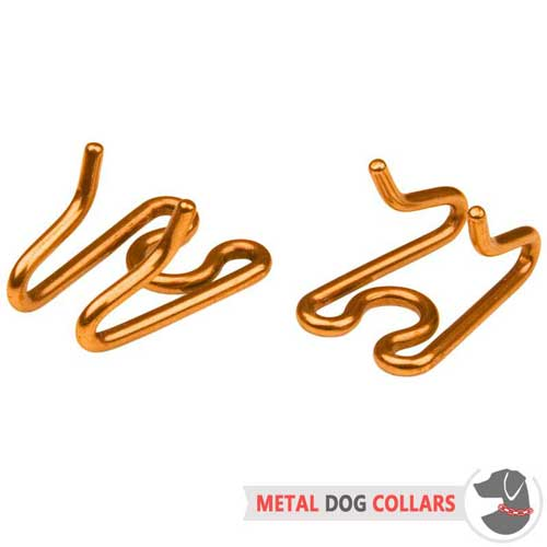 Curogan removable links for pinch dog collar