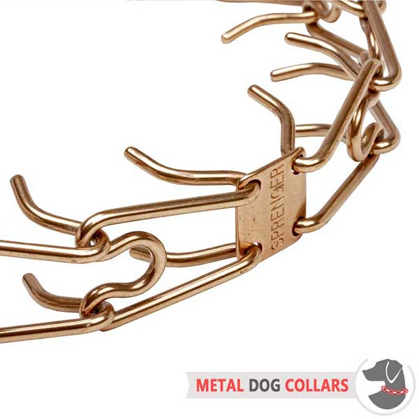 Curogan Pinch Dog Collar with Rust-proof Prongs