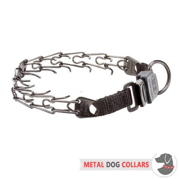 Herm Sprenger Stainless Dog Prong Collar with Click Lock Buckle