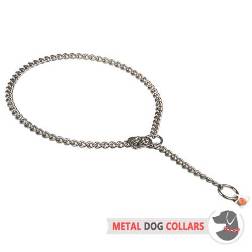 Stainless Steel Chain Choke Dog Collar with Choke Stopper