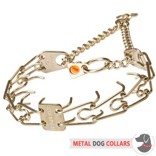 Stainless Steel Pinch Dog Collar for No-Pulling Walking