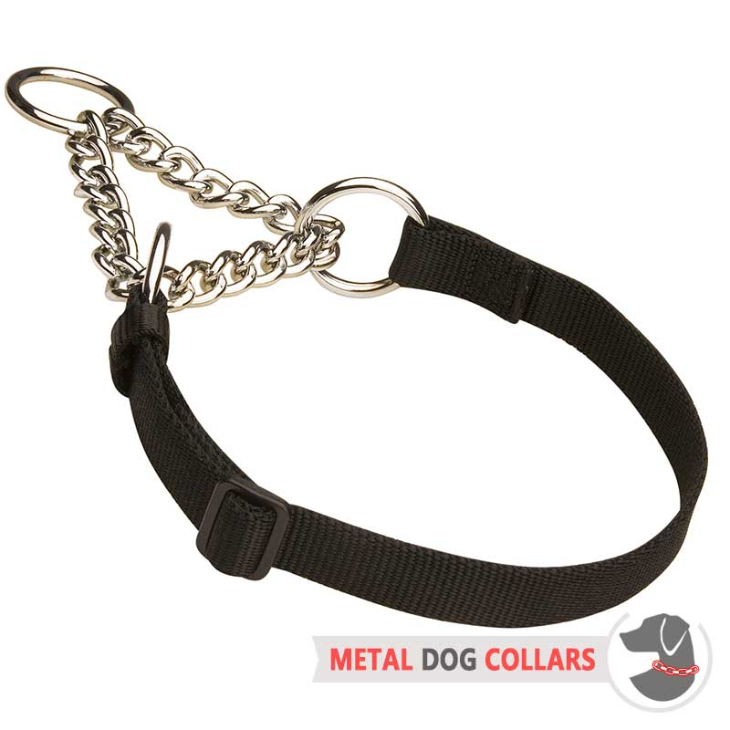 """Synthetic Friend"" Nylon Choke Collar with Chain"